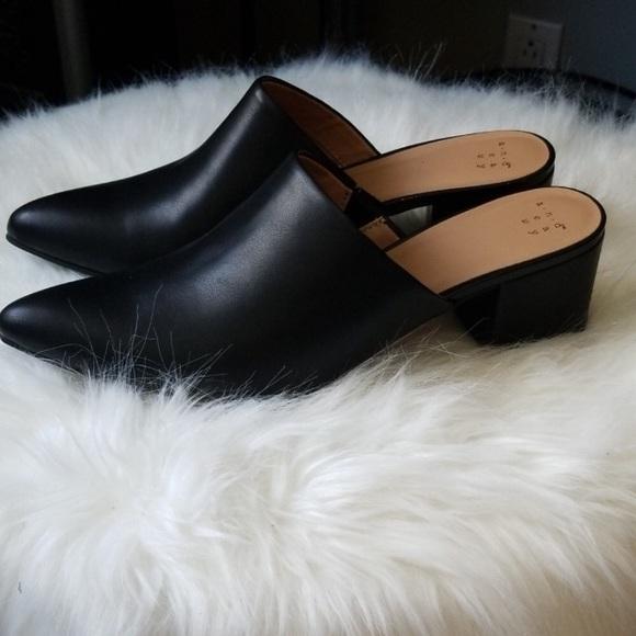 Shoes | Nwot Target Black Mules | Poshmark